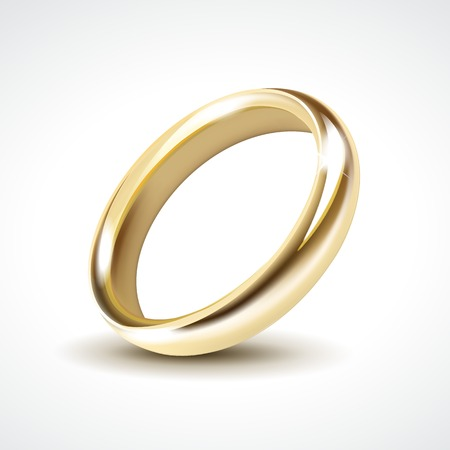 Vector Gold Wedding Ring Isolated Vector