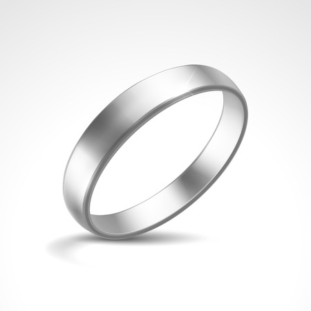 Vector Silver Ring Stock Illustratie