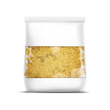 절연 된 Farfalle 나비 넥타이 파스타 포장 템플릿