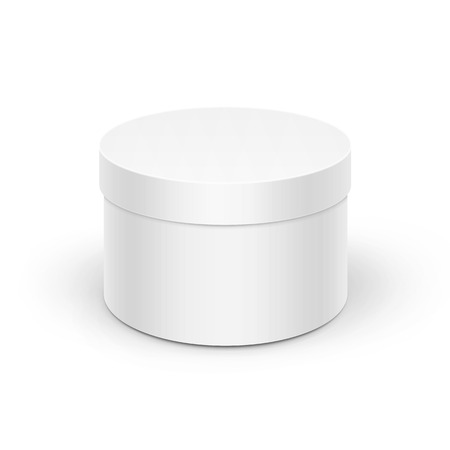 Vector White Round Blank Box