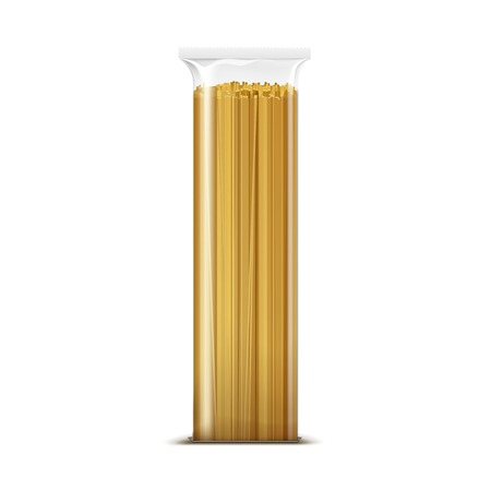 Spaghetti Pasta Packaging Template Isolated Vettoriali