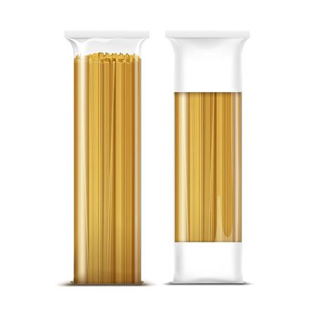 pasta: Pasta Spaghetti Plantilla Packaging aislada