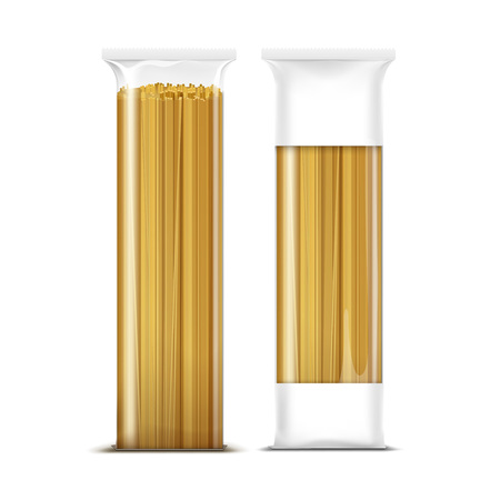 Spaghetti Pasta Packaging Template Isolated Ilustracja