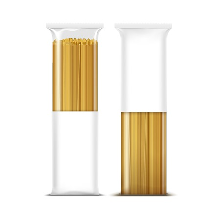 bolognese: Spaghetti Pasta Packaging Template Isolated Illustration