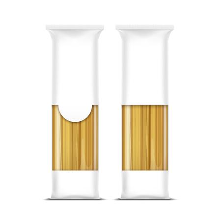 spaghetti bolognese: Spaghetti Pasta Packaging Template Isolated Illustration
