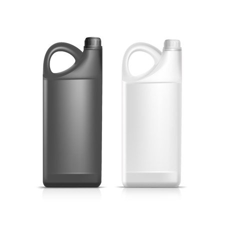 gallon: Blank Plastic Jerrycan Canister Gallon Oil Cleanser Detergent Abstergent Isolated