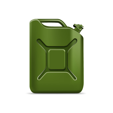 gallon: Blank Green Jerrycan Canister Gallon Oil Cleanser Detergent Abstergent Isolated Illustration