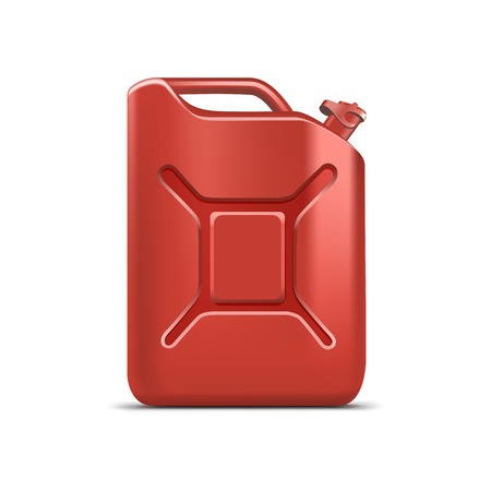 cleanser: Blank Red Jerrycan Canister Gallon Oil Cleanser Detergent Abstergent Isolated