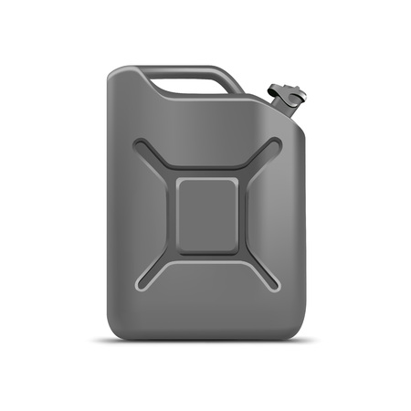 cleanser: Blank Gray Jerrycan Canister Gallon Oil Cleanser Detergent Abstergent Isolated Illustration