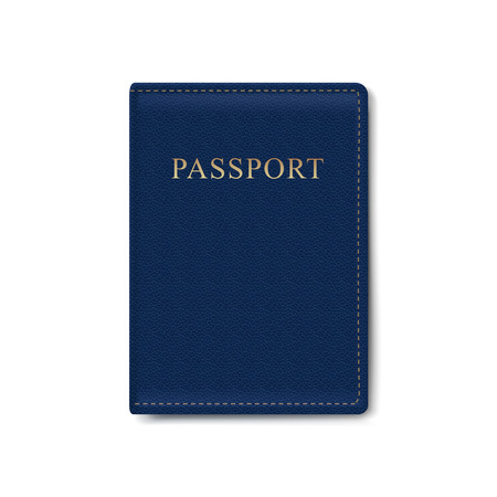 Vector Leather Cover for Passport Isolated Stock Illustratie