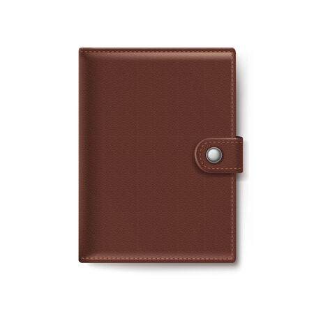 brown leather: Brown Leather Wallet Isolated on White Background Illustration