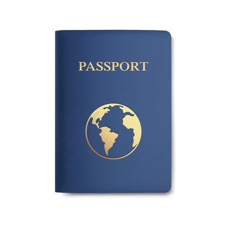 passeport: Vecteur Passeport Carte isolé sur blanc Illustration