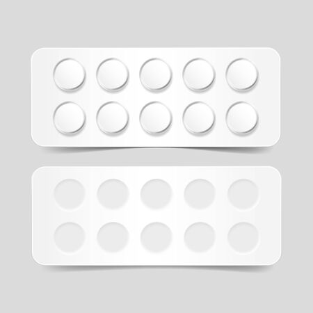 a tablet blister: Blank Pack of Pills Isolated on Background