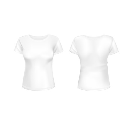 white women: Vector White Women T-shirt