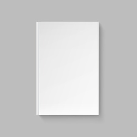 Blank Cover for Book or Magazine Template Ilustrace