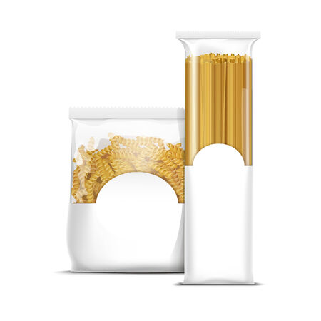 Spaghetti and Fusilli Spiral Pasta Packaging