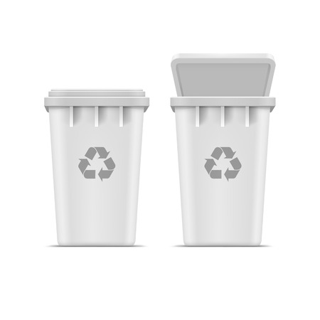recycle bin: Vector Recycle Bin for Trash and Garbage Isolated