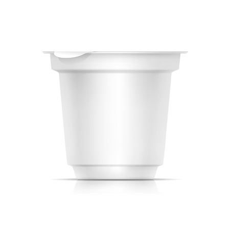 product packaging: Vector Blank White Packaging Container for Yogurt