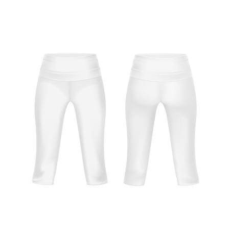 white pants: Vector White Leggings Pants Isolated on Background Illustration
