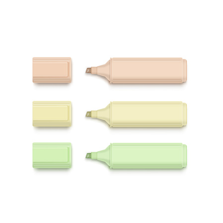 corrector: Set of Markers, Highlighters, Felt Tip Pens
