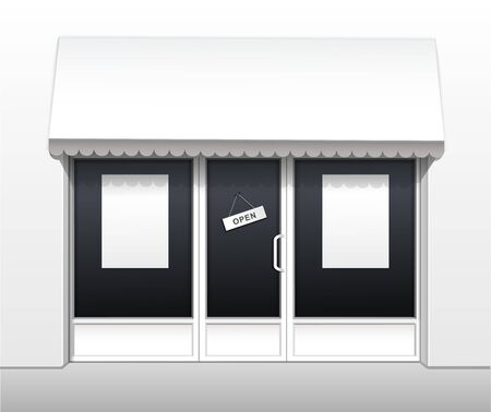 Vector Exterior of Restaurant Cafe Shop Front