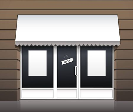 Vector Exterior of Restaurant Cafe Shop Front Vector