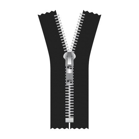 Vector Zipper Illustratie geïsoleerd op wit