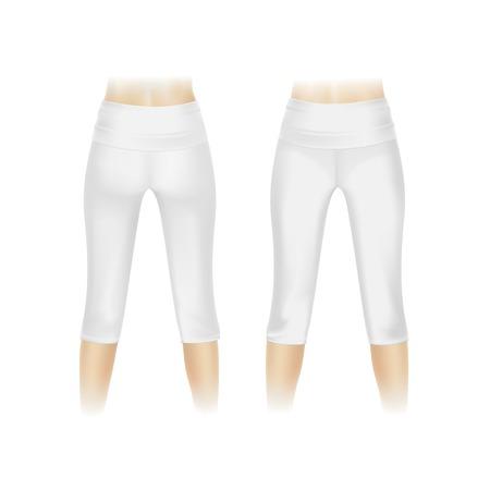 white pants: Vector White Leggings Pants Isolated