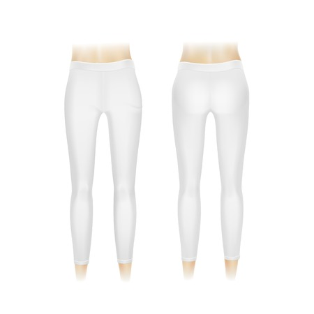 Vector White Leggings Pants Isolated