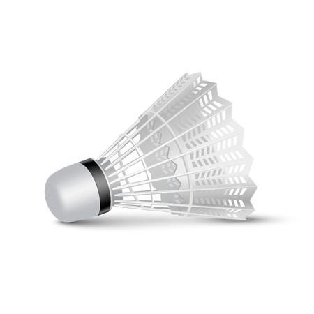 shuttlecock: Vector Badminton Shuttlecock Isolated on White Illustration