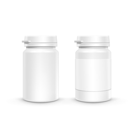 Vector Plastic Packaging Bottle with Cap for Pills Ilustrace