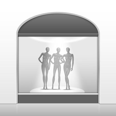 clothing shop: Ropa Tienda Boutique Frente de la tienda con maniqu�es