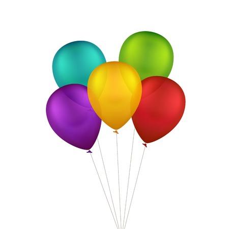 Colorful Balloons multicolores Vecteurs