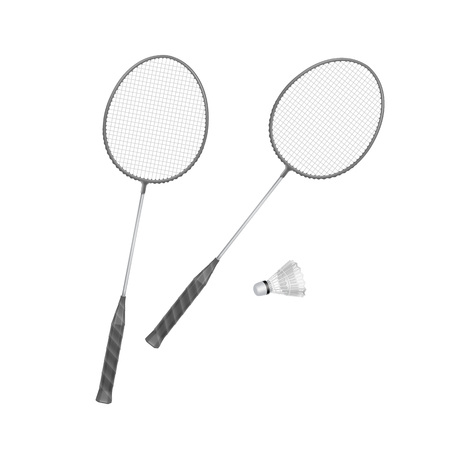 shuttlecock: Badminton Rackets with Shuttlecock