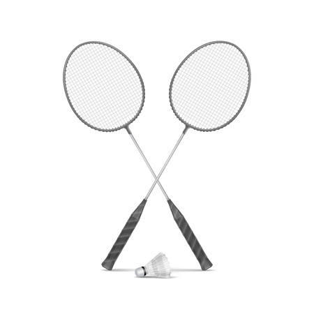 shuttlecock: Badminton Rackets with Shuttlecock
