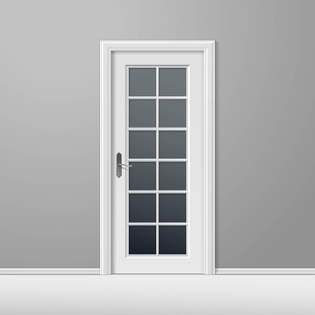 closed door: White Closed Door with Frame