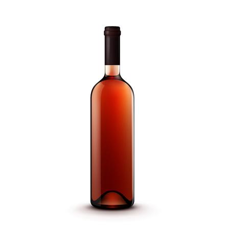 Glass Wine Bottle Illustration
