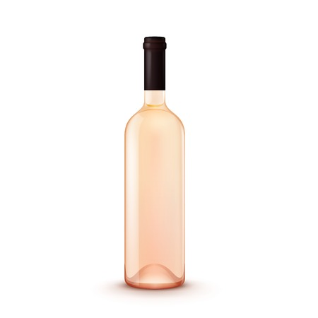 Glass Wine Bottle Illustration