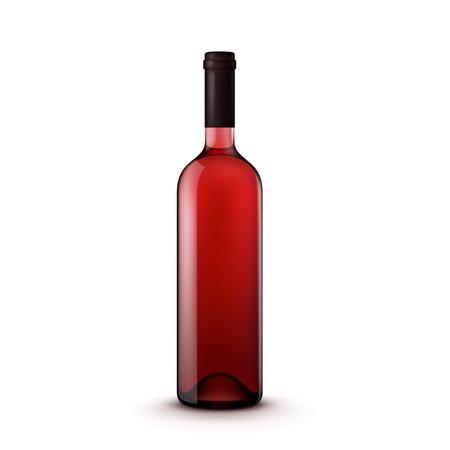 ガラスのワインボトル