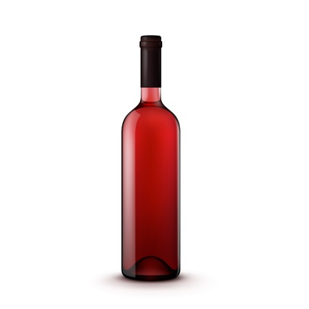 copa de vino: Botella de cristal de vino
