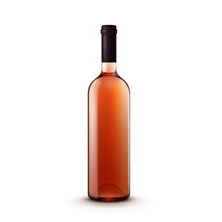 bouteille de vin: Bouteille en verre de vin