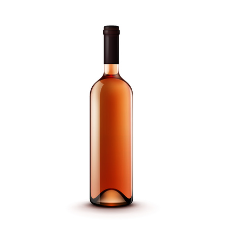 unopened: Glass Wine Bottle Illustration