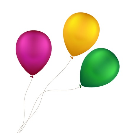 party balloons: Vector Multicolored Colorful Balloons Isolated Illustration