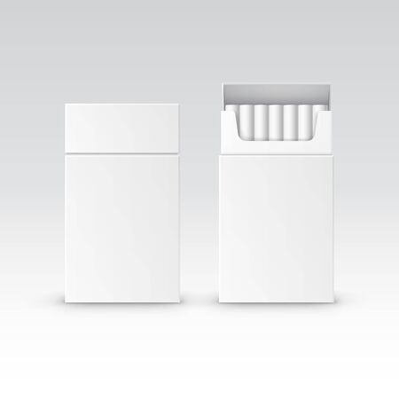 toxic product: Vector Blank Pack Package Box of Cigarettes