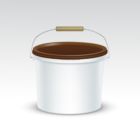 paint cans: Vector Blank Plastic Bucket Container Packaging