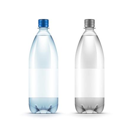 Vecteur Blank bouteille en plastique Blue Water isolé Banque d'images - 41233765