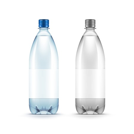 water bottle: Vector Blank Plastic Blue Water Bottle Isolated