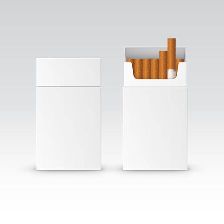 cigarette pack: Vector Blank Pack Package Box of Cigarettes