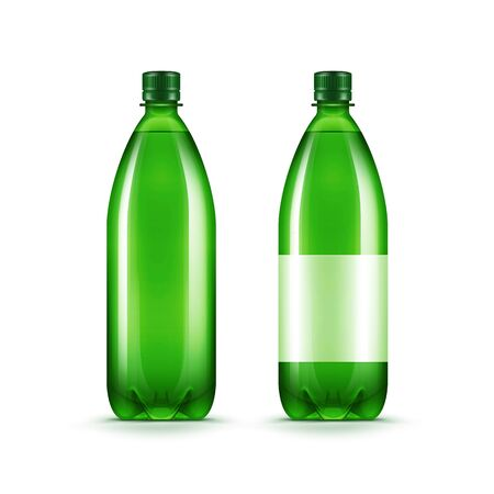Vector Blank Green Plastic Water Bottle Isolated Ilustração