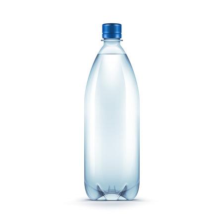 Vecteur blanc bouteilles en plastique Blue Water Banque d'images - 41533793